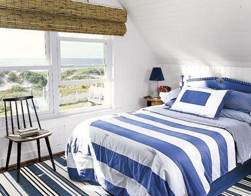 спальни на мансарде дизайн Морской