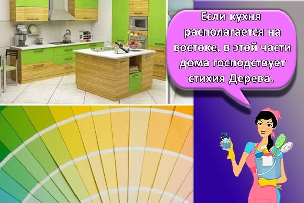 Если кухня располагается на востоке, в этой части дома господствует стихия Дерева.