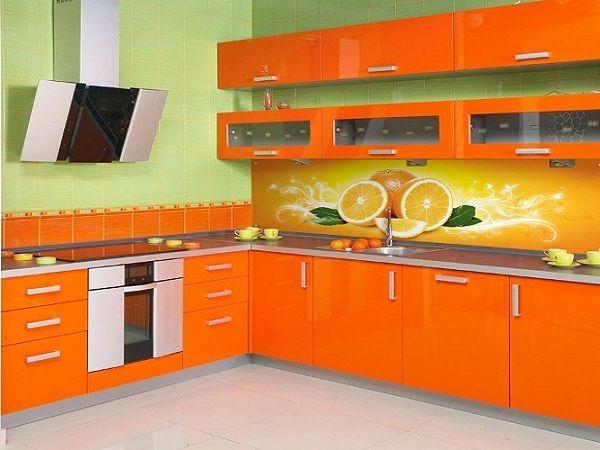 цвета для кухни Оранжевый