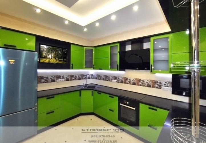 кухня цвета лайм стиль Модерн