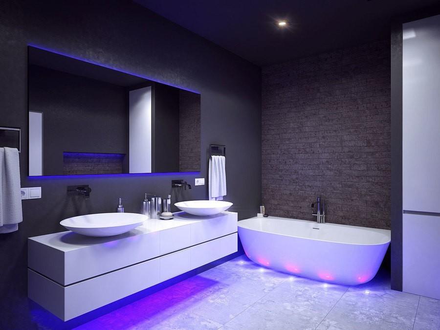 ванная комната хай тек