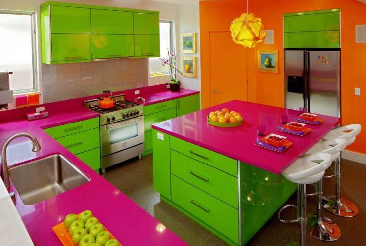 кухня цвета лайм стиль Футуризм