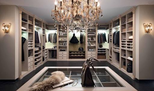 освещение в гардеробке