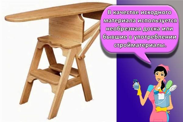 В качестве исходного материала используется необрезная доска или бывшие в употреблении стройматериалы.