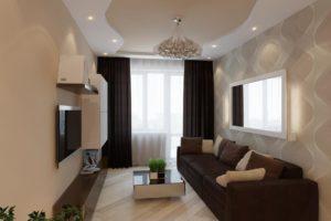 Стилевые особенности и преимущества дизайна гостиной в коричневых тонах и сочетания