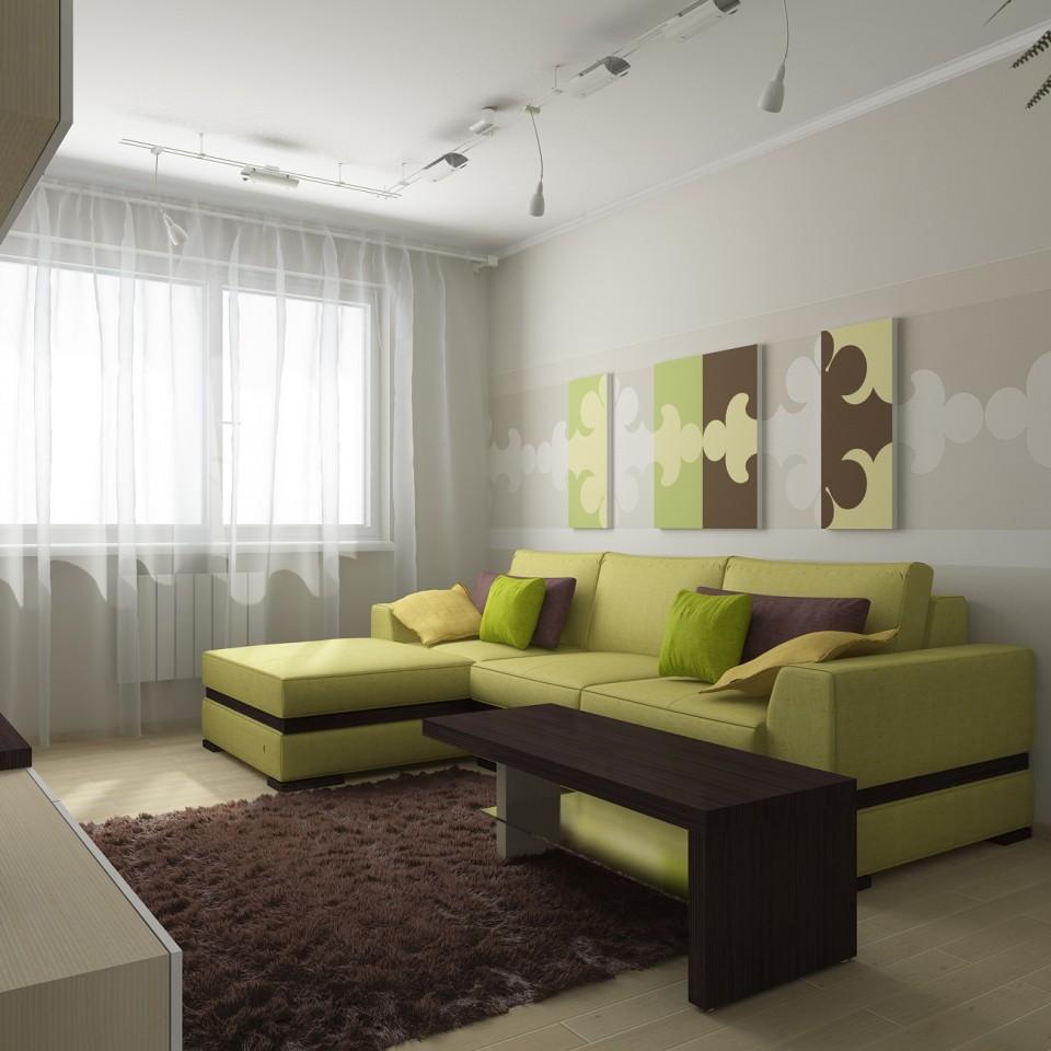 С зеленым гостинная