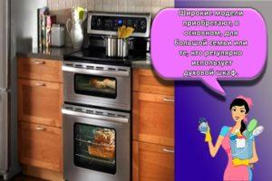 Как выбрать лучший духовой шкаф в зависимости от разновидностей и размеров