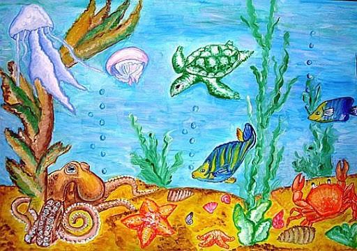 подводный мир и его обитателей;