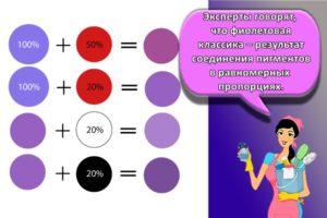 Как смешиванием красок можно получить фиолетовый цвет и его оттенки