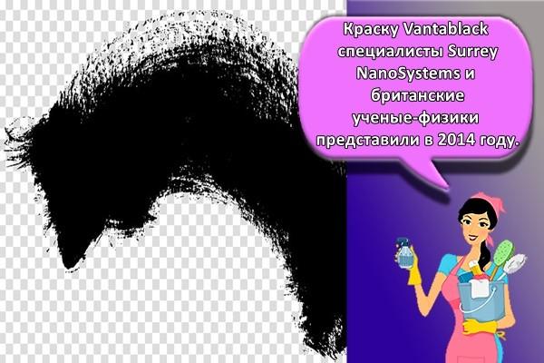 Краску Vantablack специалисты Surrey NanoSystems и британские ученые-физики представили в 2014 году.