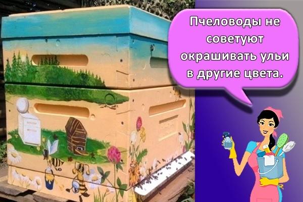Пчеловоды не советуют окрашивать ульи в другие цвета.