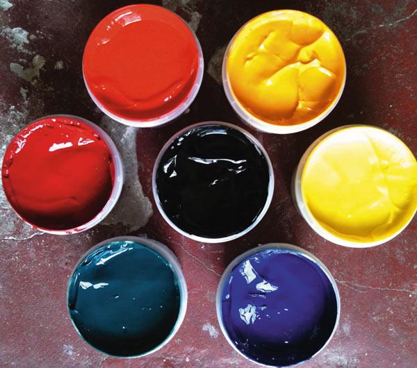 Пластизольные краска
