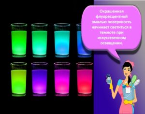 Описание и виды флуоресцентных красок, их цвета и технология нанесения